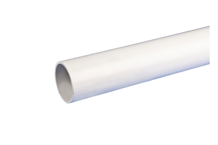 Osma Push-Fit Waste 5W073W 40mm Plain Ended Pipe White 3m