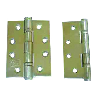 4Trade Hinge 2 Ball Bearing 100 x 75 x 3mm Stainless Steel GRADE13 CE Bsen 1935 Pack of 3