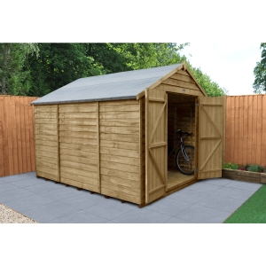Overlap Pressure Treated Apex Shed Double Door No Windows 10 ft x 8 ft