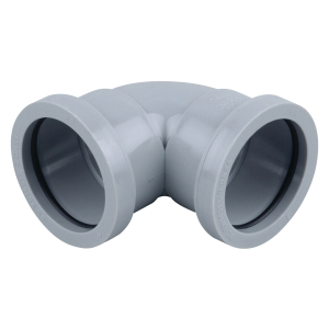 Osma Waste 90¡push-fit knuckle bend grey 32mm
