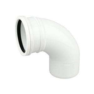 OsmaSoil 4S161W 110mm Ring-Seal Bend 87.5ø White