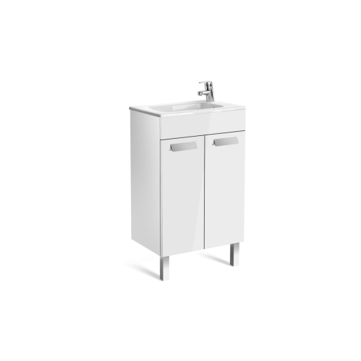 Roca Debba Compact Vanity Unit 2 Doors Gloss White 500mm A855900806