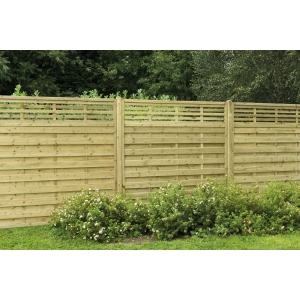 1.8m x 1.8m Pressure Treated Decorative Kyoto Fence Panel Pack