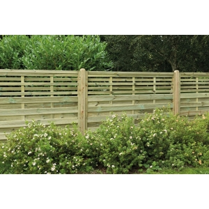1.8m x 1.5m Pressure Treated Decorative Kyoto Fence Panel Pack