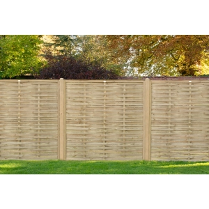 Pressure Treated Woven Fence Panel 1.8m x 1.81m - Pack of 5