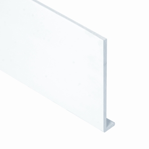 Eurocell Roofline Profile Upvc Capping Board White 9mm X 150mm X 5m