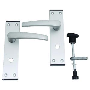 4Trade Oxford Privacy / Bathroom Lever Satin Anodised Aluminium