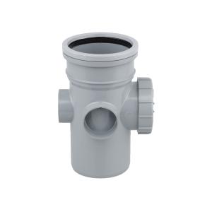 OsmaSoil 4S274G 110mm Ring-Seal Bossed Access Pipe Grey