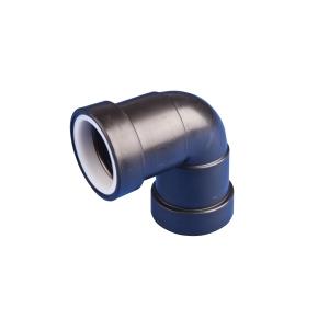 Osma Waste 90¡ push-fit knuckle black 40mm