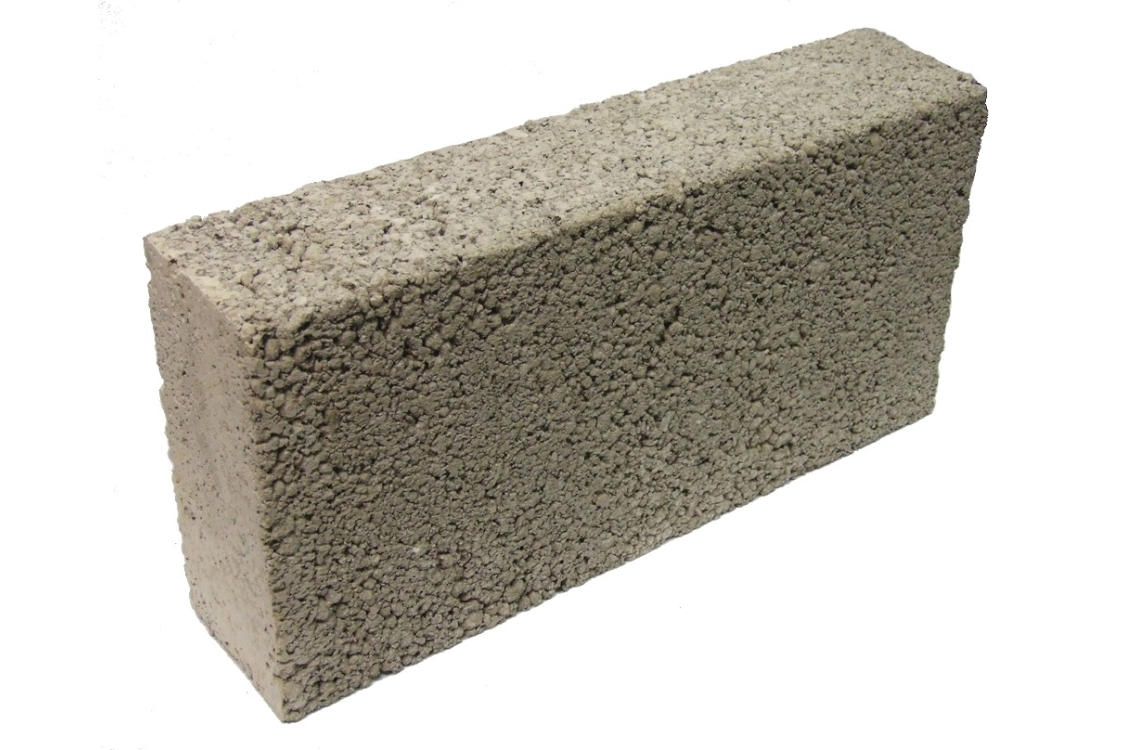 Solid Dense 7.3N Concrete Block Grey 100mm