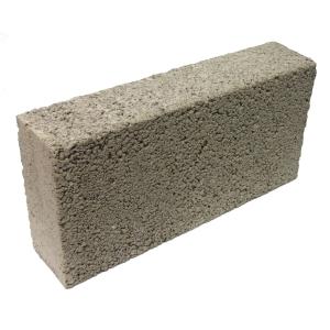 Solid Dense 7.3N Concrete Block Grey 100mm