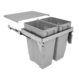 600mm Stanto Pull Out Bin x 2 (2 x 35L) - Door Mounted