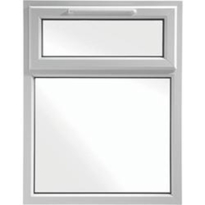 Euramax White Upvc Casement Window 2P Top Hung 905 x 1190mm