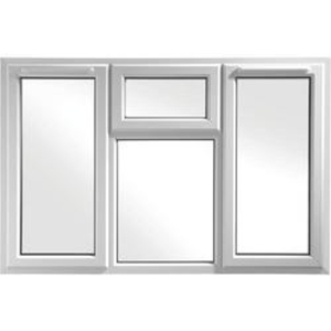 Euramax White Upvc Casement Window 4P Top, Left and Right Side Hung 1770 x 1040mm""