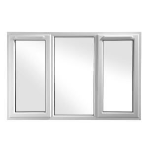 Euramax White Upvc Casement Window 3P Left and Right Side Hung 1170 x 1190mm