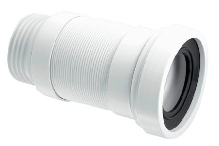 McAlpine Short Flexible WC Connector To Suit 110mm Soil Pipe WC-F18R