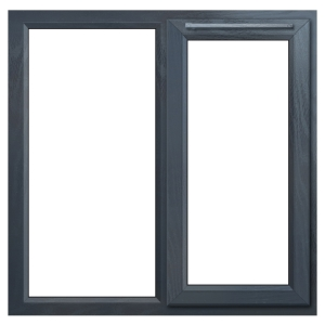 Euramax Grey Upvc Casement Window 2P Right Side Hung 1190 x 1190mm