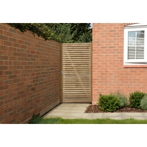 Double Slatted Gate 6ft 1.83m High