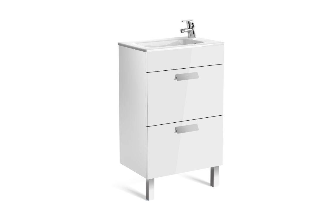 Roca Debba Compact Vanity Basin + Unit 2 Drawers White 500mm 855904806