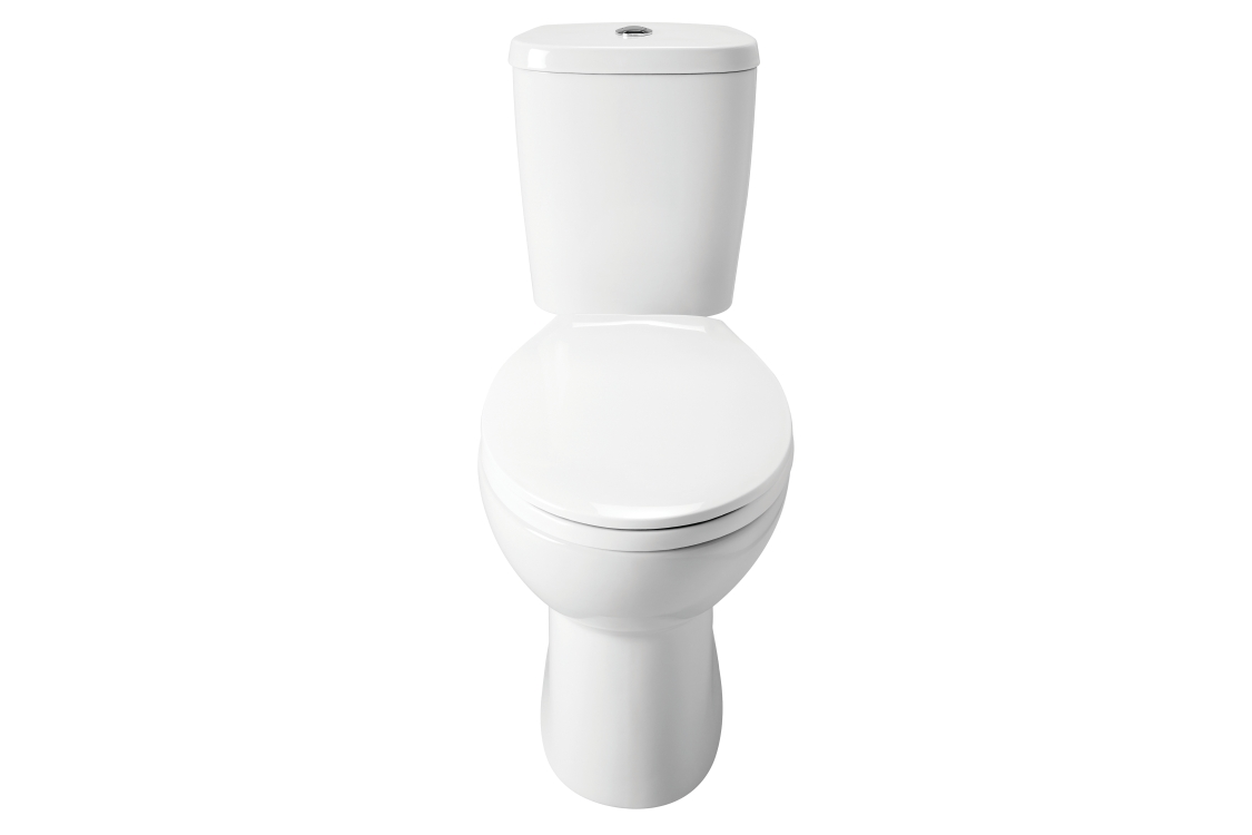 Close Coupled Toilet Pack White ZSTANDARWC (Pan, Cistern and Seat)