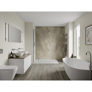 Multipanel Linda Barker Bathroom Wall Panel Hydrolock 2400 x 598mm Soapstone Stellar 3459