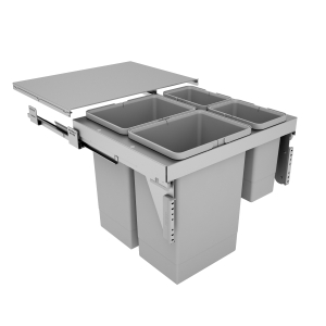 600mm Stanto Pull Out Bin x 4 (2 x 24L, 2 x 8L) - Door Mounted""