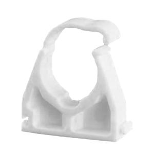Ellis Patents Single Hinged Pipe Clip White Plastic 22mm