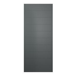 Oslo Ultimate External Front Grey Hardwood Veneer Door