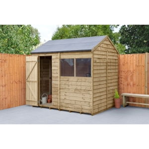 Overlap Pressure Treated Reverse Apex Shed