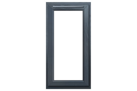 Euramax Grey Upvc Casement Window 1P Left Side Hung 610 x 1190mm