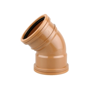 OsmaDrain Double Socket Short Radius Bend 45° 110mm 4D563
