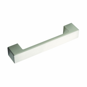 Flat Square D Handle (Stainless Steel Effect) 160mm Centre