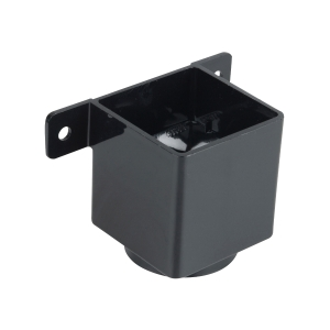 Osma SquareLine 4T823 Pipe Connector And Bracket 61mm Black