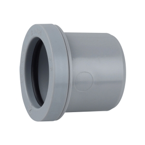 Osma Waste push-fit double socket grey 32mm