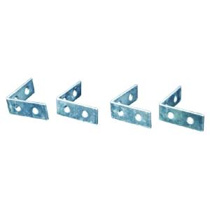4Trade Corner Braces Zinc Plated Pack of 4 75mm