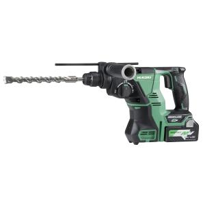 Hikoki 36V Multivolt Rotary Hammer Drill 28mm SDS-PLUS 2 x 2.5AH LI-ION Batteries DH36DPAJRZ
