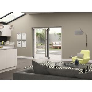 External Aluminium White Right Opening Bifold Door Set 1790mm wide