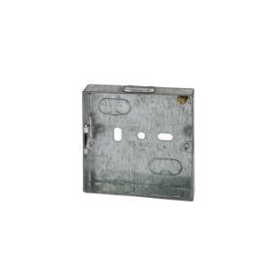 4TRADE 1 gang Metal Back Box 16mm