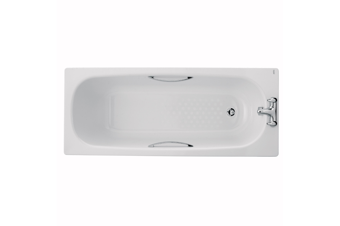 Twyford Celtic Steel Bath White 1500 x 700mm BS1472WH
