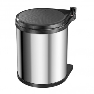 Hafele Swing Out Waste Bin 12L Stainless Steel/Black