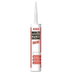 Evo-stik Trade Multi Purpose Silicone Sealant White 483439