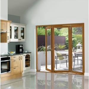 Slimline External Pre-finished Oak Bifold Door Set