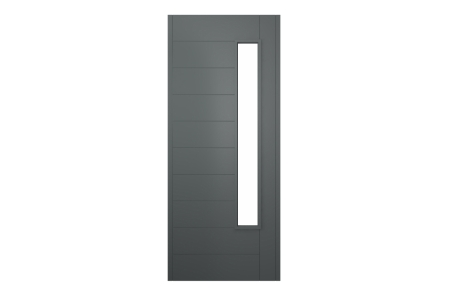 Stockholm External Front Grey Hardwood Veneer Door 1981 x 838mm