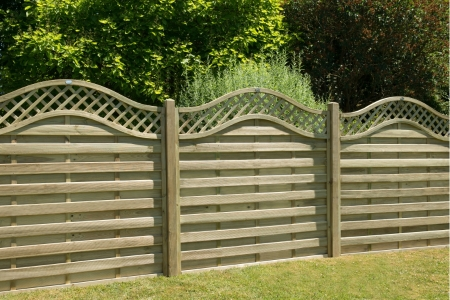 Europa Prague Pressure Treated Fence Panel 1800mm x 1800mm - 6 ft x 6 ft
