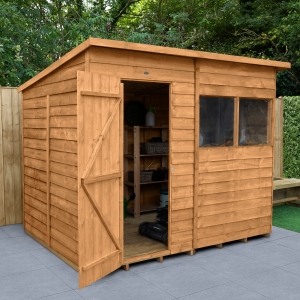 Overlap Dip Treated Pent Shed 8 ft x 6 ft