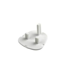 4TRADE Safety Plug White for 13AMP Socket Pack of 5