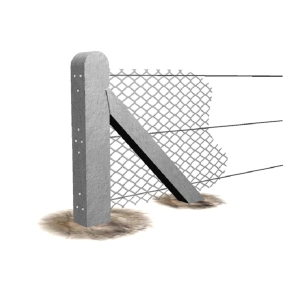 Supreme Concrete Chainlink End Post 4ft 9in CHK145E  - Pack of 12