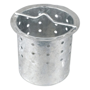 OsmaDrain perforated galvanised steel catchment bucket