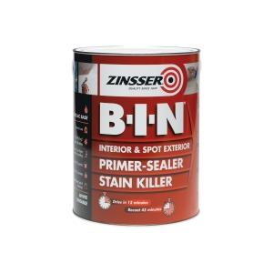 Zinsser B-I-N Primer Sealer Stain Killer Shellac Base 1L