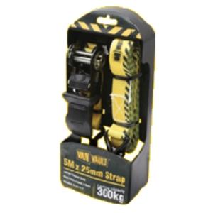 Birchwood Priced Tools Van Vault Ratchet Tie Down Strap Black 5000mm x 25mm S10673